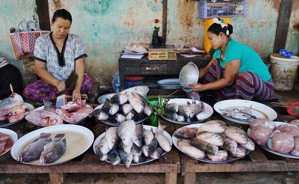 Myanmar fishmarket